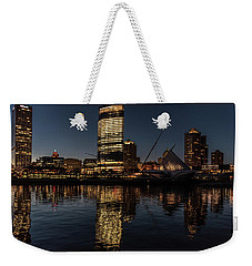 Milwaukee Reflections Weekender Tote Bag by Randy Scherkenbach