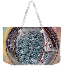 Milwaukee River Little Planet Weekender Tote Bag