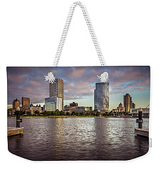 Milwaukee Skyline Weekender Tote Bag