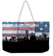 Milwaukee Skyline Usa Flag Weekender Tote Bag