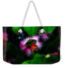 Weekender Tote Bag featuring the photograph Mimosa Flower by EricaMaxine  Price