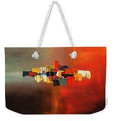 Weekender Tote Bag featuring the painting Mindful - Abstract Art by Carmen Guedez