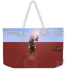 Minecraft Knight Weekender Tote Bag