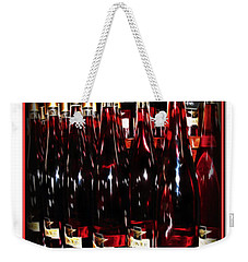 Weekender Tote Bag featuring the photograph Miner Pink Sparkling Wine by Joan  Minchak