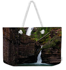 Weekender Tote Bag featuring the photograph Mineral Creek Falls by Steve Stuller