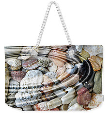 Weekender Tote Bag featuring the digital art Minerals And Shells by Michal Boubin