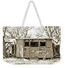 Weekender Tote Bag featuring the photograph Miner's Camp by Timothy Bulone