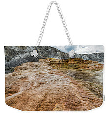 Weekender Tote Bag featuring the photograph Minerva Hot Springs Yellowstone by John M Bailey