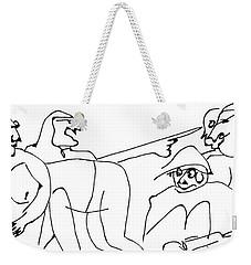Minette Warned The Lafarge Bros. About Getting Alphonse Drunk Again Weekender Tote Bag