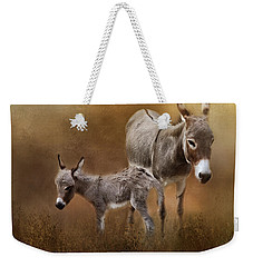 Mini Donkey Mother And Baby Weekender Tote Bag by TnBackroadsPhotos