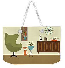 Mini Gravel Art With Orange Cat Weekender Tote Bag