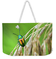Weekender Tote Bag featuring the photograph Mini Metallic Magnificence  by Bill Pevlor