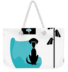 Mini Mod Pods On White With Dog Weekender Tote Bag