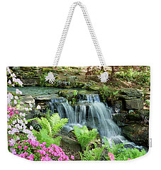 Weekender Tote Bag featuring the photograph Mini Waterfall by Sandy Keeton
