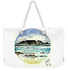 Weekender Tote Bag featuring the painting Miniature Cape Town by Heidi Kriel