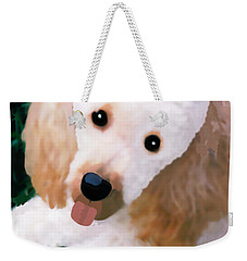 Miniature Poodle Albie Weekender Tote Bag