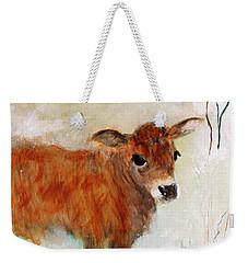 Nicholas The Miniature Zebu Calf Weekender Tote Bag