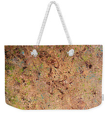 Weekender Tote Bag featuring the painting Minimal 7 by James W Johnson