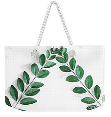 Weekender Tote Bag featuring the photograph Minimal Green 2 by Andrea Anderegg