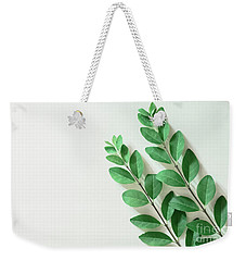 Weekender Tote Bag featuring the photograph Minimal Green by Andrea Anderegg
