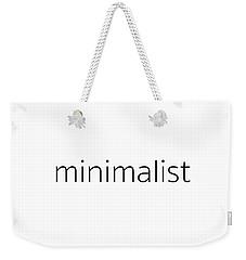 Minimalist Weekender Tote Bag by Bill Owen