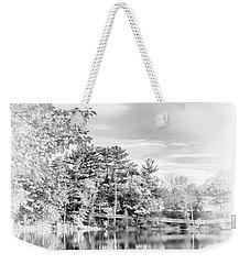 Minimalist Fall Scene In Black And White Weekender Tote Bag