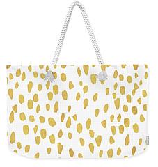 Minimalist Is Gold Weekender Tote Bag