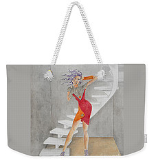 Minimalist Madness -- Whimsical Fashion Drawing Weekender Tote Bag