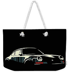 Minimalist Porsche Weekender Tote Bag by Sassan Filsoof