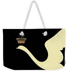 Minimalist Swan Queen Flying Crowned Swan Weekender Tote Bag by Tina Lavoie