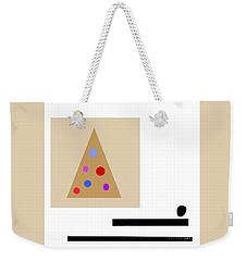 Weekender Tote Bag featuring the digital art Minimalistic Christmas by Jessica Eli