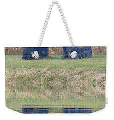 Minions In A Reflection Pool Weekender Tote Bag by Kelly Awad