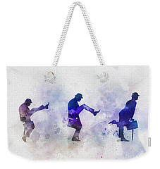 Ministry Of Silly Walks Weekender Tote Bag by Rebecca Jenkins