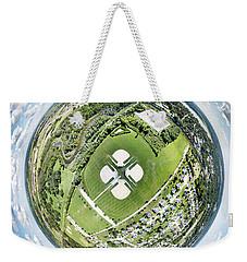 Weekender Tote Bag featuring the photograph Miniwaukan Park Little Planet by Randy Scherkenbach