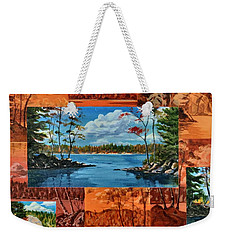 Mink Lake Looking North West Weekender Tote Bag