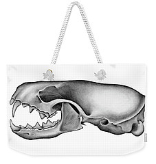 Mink Skull Weekender Tote Bag by James Larkin