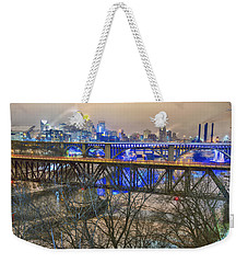 Minneapolis Bridges Weekender Tote Bag