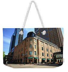 Weekender Tote Bag featuring the photograph Minneapolis Downtown by Frank Romeo