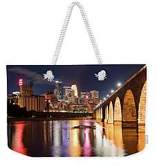 Minneapolis Nights Weekender Tote Bag