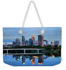 Minneapolis Reflections Weekender Tote Bag by Rick Berk