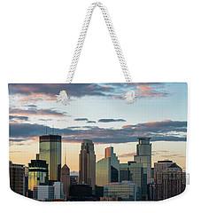 Minneapolis Skyline Sunset Weekender Tote Bag