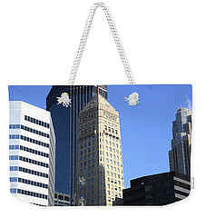 Weekender Tote Bag featuring the photograph Minneapolis Skyscrapers 12 by Frank Romeo