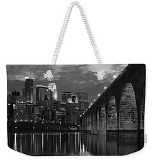 Minneapolis Stone Arch Bridge Bw Weekender Tote Bag