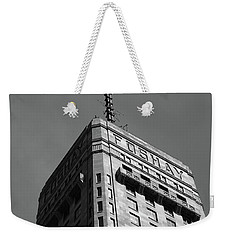 Weekender Tote Bag featuring the photograph Minneapolis Tower 6 Bw by Frank Romeo