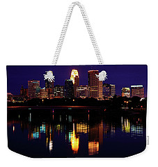 Minneapolis Twilight Weekender Tote Bag by Rick Berk