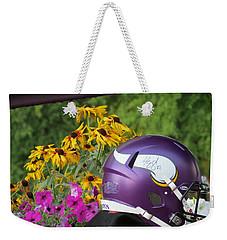 Minnesota Vikings Helmet Weekender Tote Bag by Kyle West