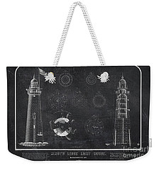 Weekender Tote Bag featuring the drawing Minot's Ledge Light House. Massachusetts Bay Near Cohasset  by Vintage