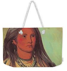 Mint A Mandan Girl 1832 Weekender Tote Bag