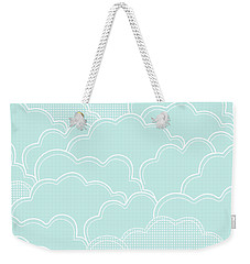 Mint Clouds Weekender Tote Bag