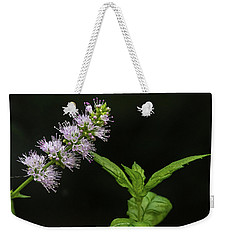 Mint Flower Weekender Tote Bag